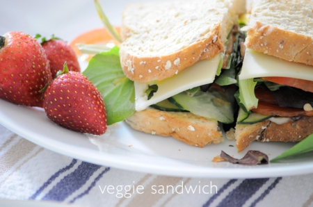 Post image for easy vegetarian sandwich