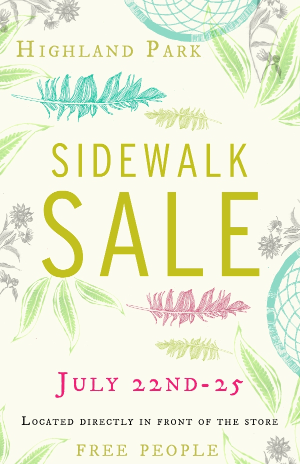 Post image for highland park sidewalk sale!