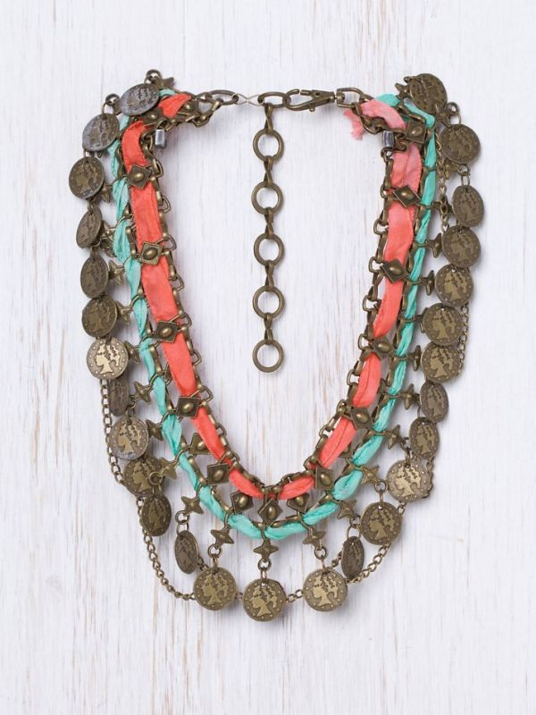 traded treasure bib necklace