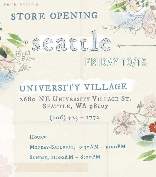 Post image for fp university village, seattle opens today!