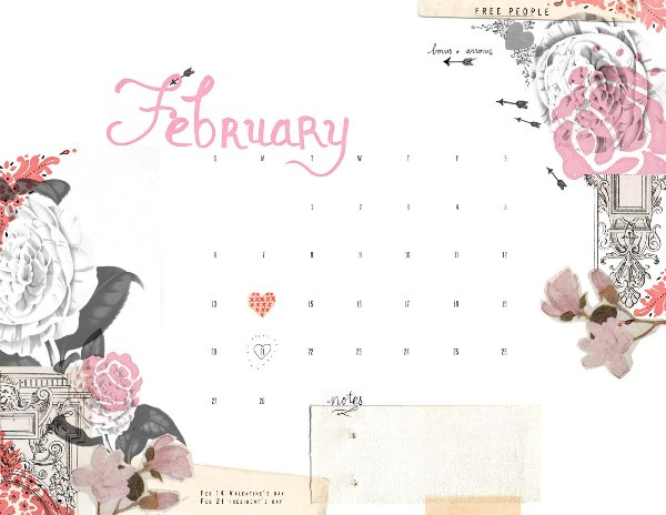 Post image for february calendar!