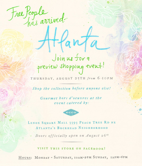 Post image for Free People Atlanta Opening!