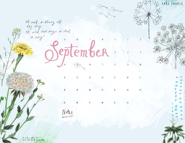 Post image for September Calendar Download!