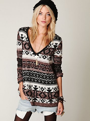 fairisle v-neck pullover