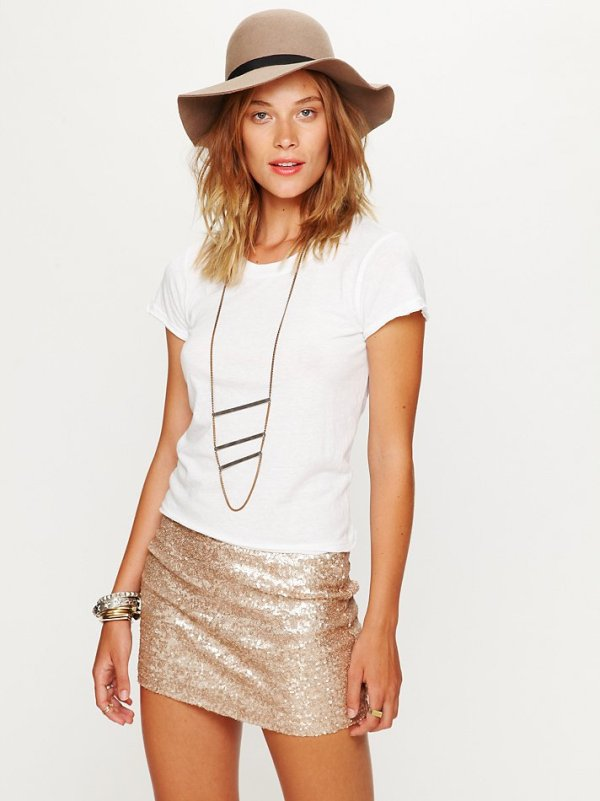 Forever Sequin Bodycon Skirt