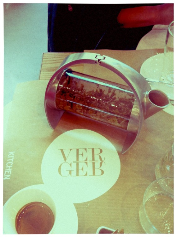 peppermint tea after lunch @ Verger