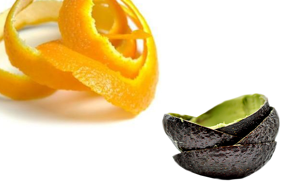 orange peel and avocado peel