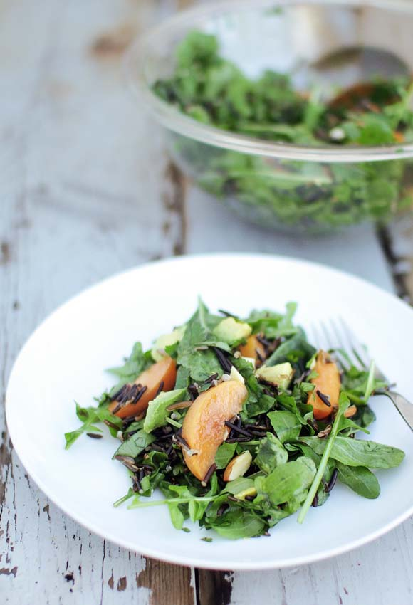 Arugula & Wild Rice Salad with Apricots