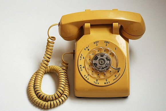 Mustard Yellow Retro Phone