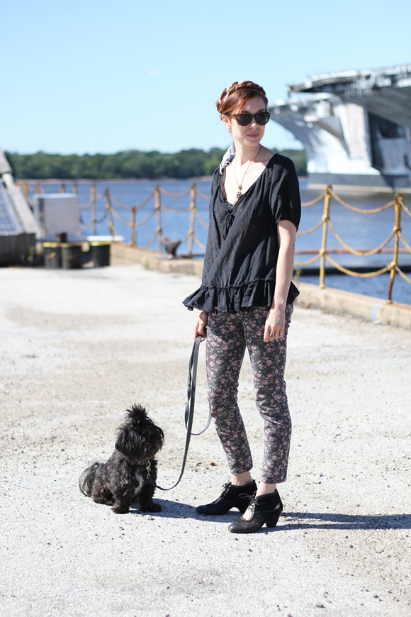 Free People Girl with Dog