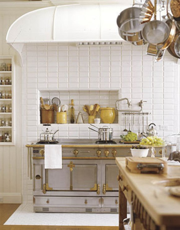 White Yellow Wood Steel Kitchen