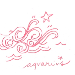 aquarius star sign illustration