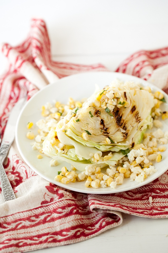 Post image for Summer Salad Series: Grilled Cabbage And Chipotle Corn Salad From Naturally Ella