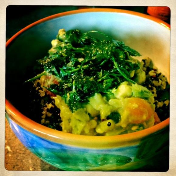 quinoa and guac
