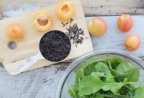 Post image for Arugula, Wild Rice & Apricot Salad from Good Things Grow