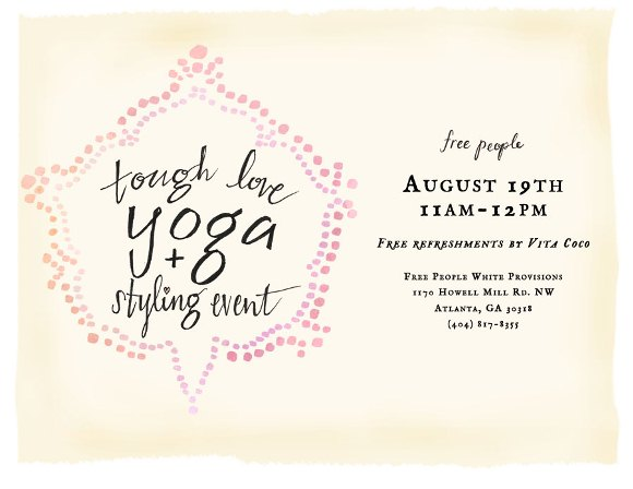 Post image for Yoga, Styling, DIY And More! Check Out This Weekend's Store Events