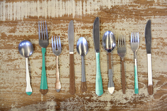 Hand Painted Antique Silverware