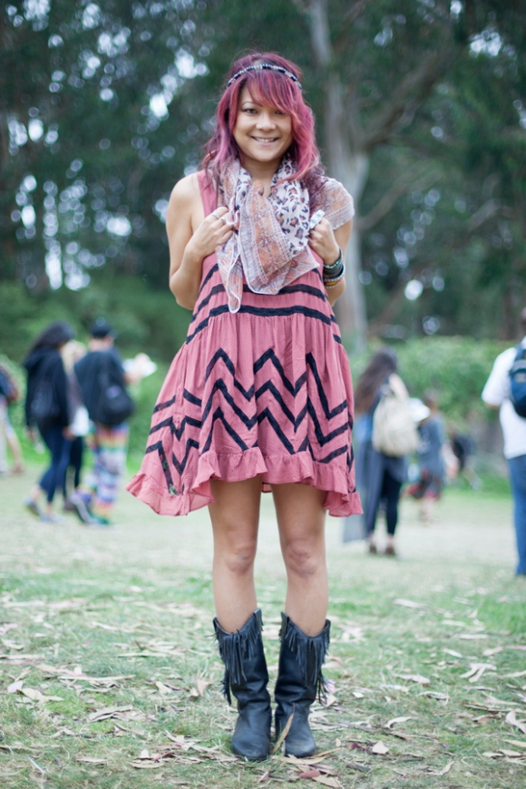 Festival Fashion At Outside Lands 2012 Day One