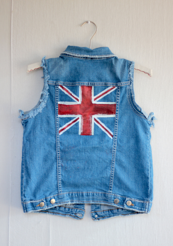 olympic denim vest