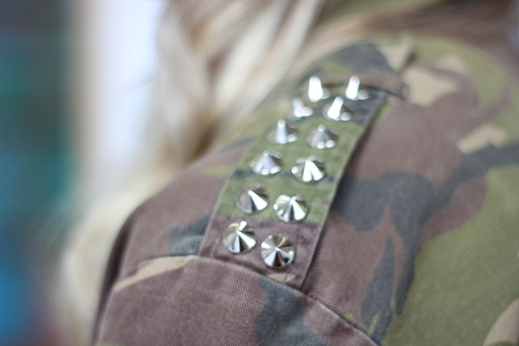 diy studded military jacket