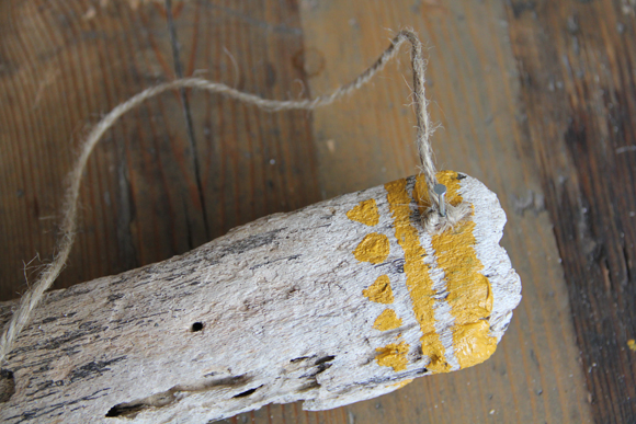 Nail in Painted Driftwood