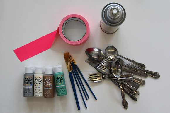 Painted Silverware Materials