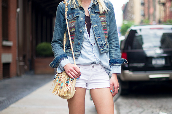Post image for Aline Weber Spotted Wearing Our Baja Denim Jacket