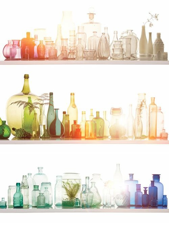 Decorative Colored Glass Bottles Delectable Décor Crush Vintage Glass Containers & How To Use Them Design Ideas