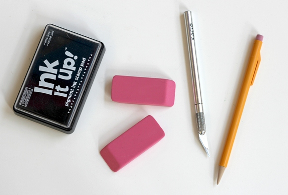 diy eraser stamp