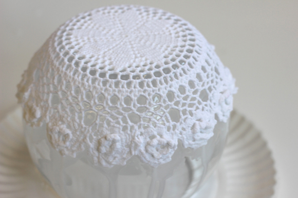 lace doily bowl