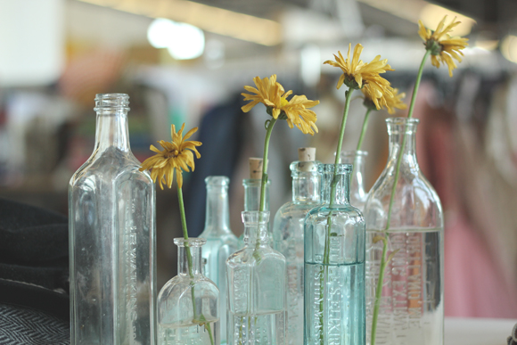 Vintage Glass Flower Vases