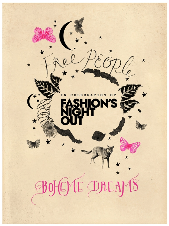 "Post image for Free People Celebrates Fashion's Night Out! Discover ""Boheme Dreams"""