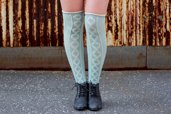 Blue Thigh Highs and Boots