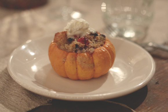 Bread Pudding in Pumpkin