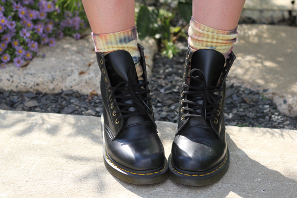 Docs and Tie Dye Socks