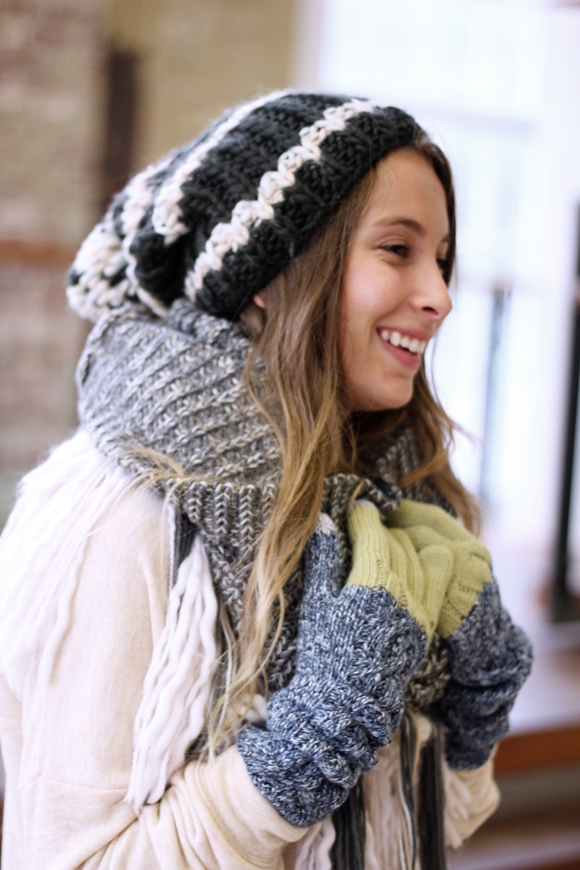 For those chilly winter days you can t go wrong with the Striped Pom Pom Hat  – super soft and warm 994b65bee4a
