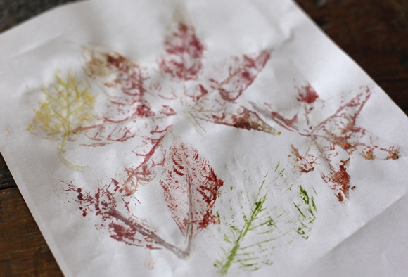 Post image for DIY Hammered Leaf Prints