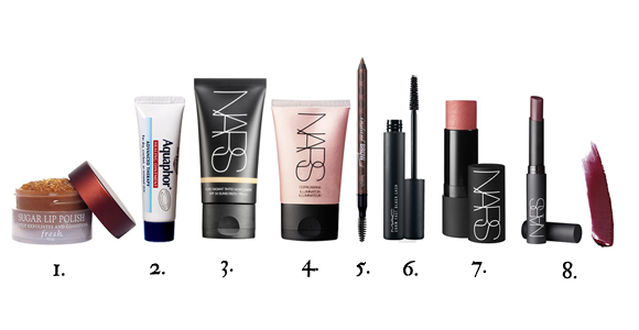 makeup product list