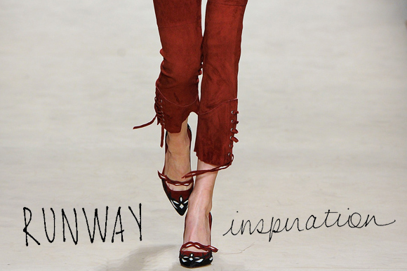 Post image for Runway Inspiration: Wearing Skinny Pants With Heels