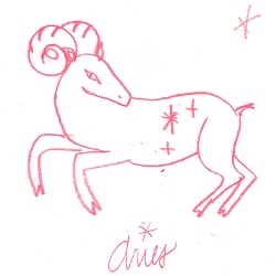 aries star sign illustration