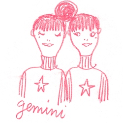 gemini star sign illustration