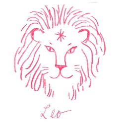 leo star sign illustration