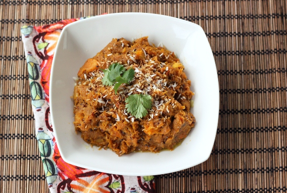 Post image for Indian-Spiced Butternut Squash With Toasted Coconut (Gluten-Free + Vegan)