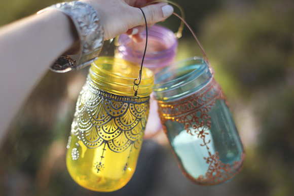 Post image for 5 Spaces To Decorate With Our Hand-Painted Mason Jar Lanterns