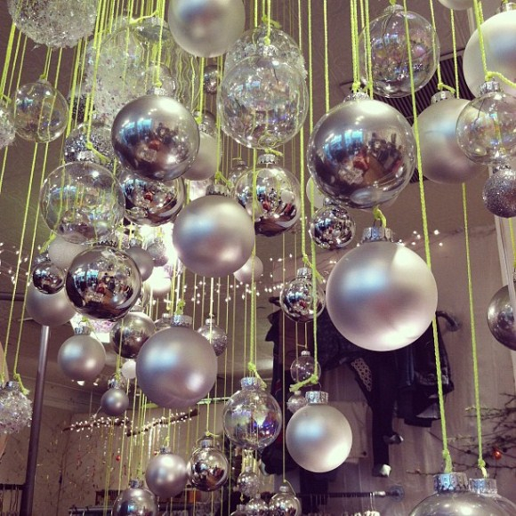 A peek at our holiday store displays for Free people store decor