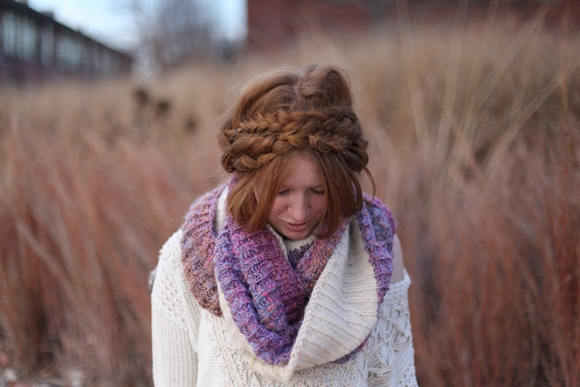 chunky scarf styling