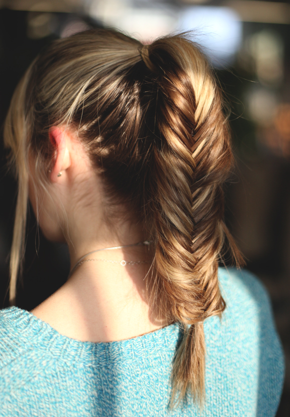 fishtail ponytail hair