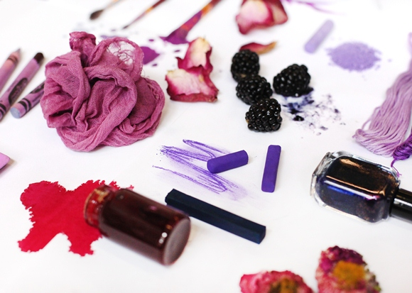purple pigments