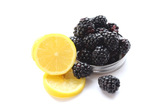 blackberries lemons