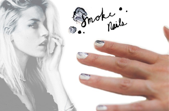 Post image for Beauty DIY: Easy Smoke Swirl Nails
